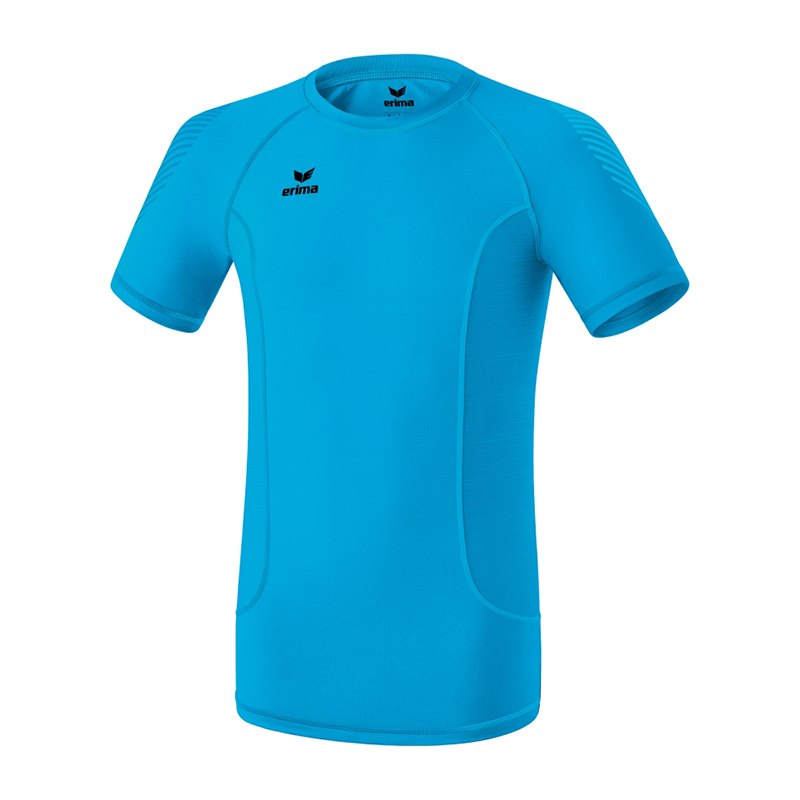 Erima Elemental Shortsleeve Shirt Kids Blau - blau