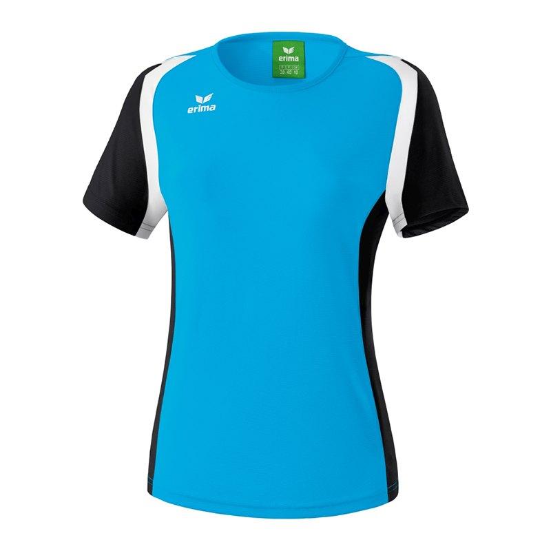 Erima Razor 2.0 T-Shirt Damen Hellblau Schwarz - blau