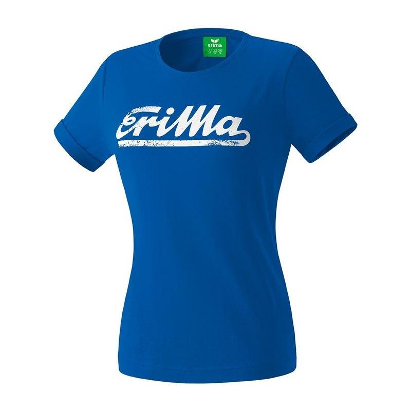 Erima Retro T-Shirt Damen Blau Weiss - blau