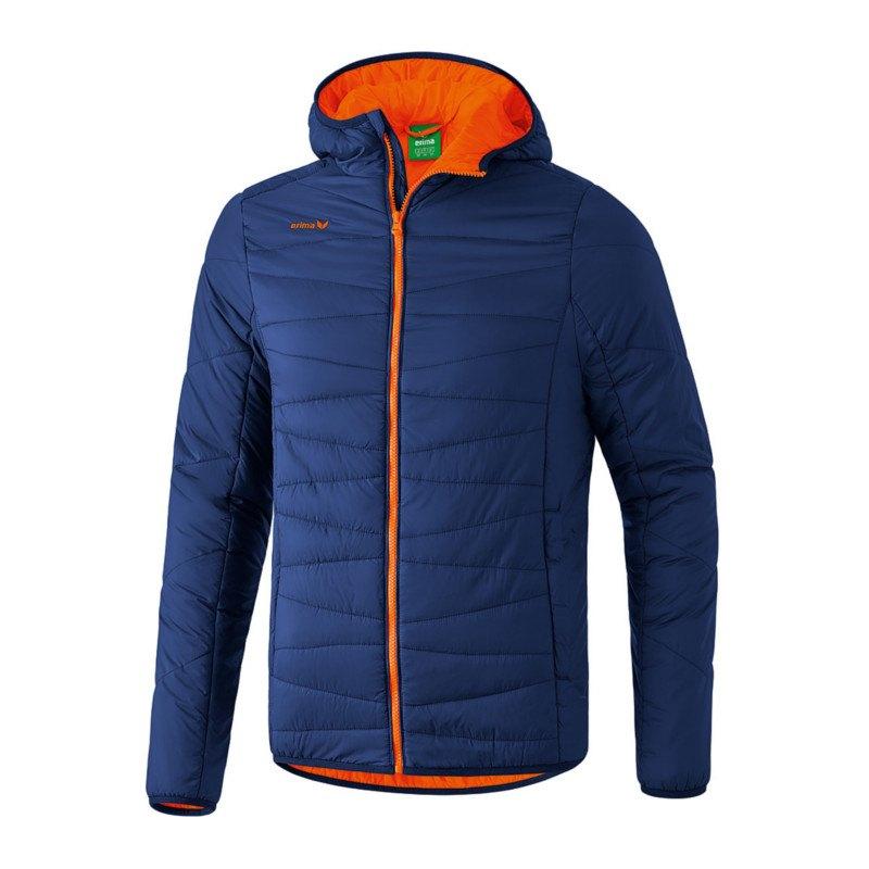 Erima Steppjacke Blau Orange - blau