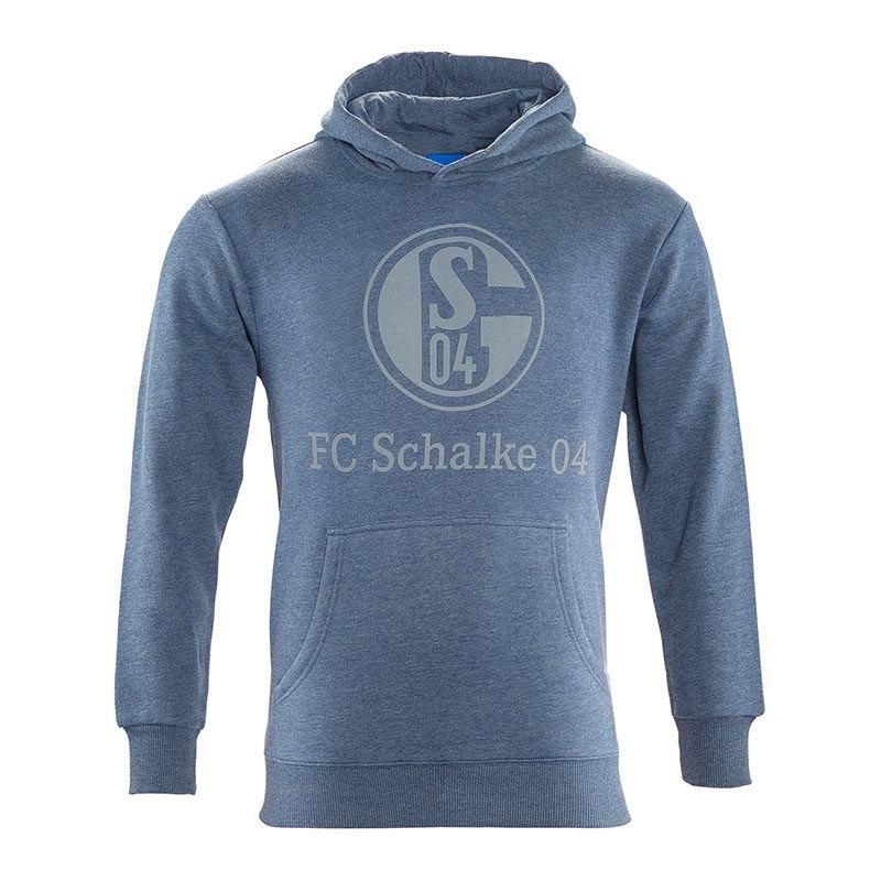 fc schalke 04 kapuzensweatshirt basic kids blau bundesliga fanartikel ruhrpott winter. Black Bedroom Furniture Sets. Home Design Ideas