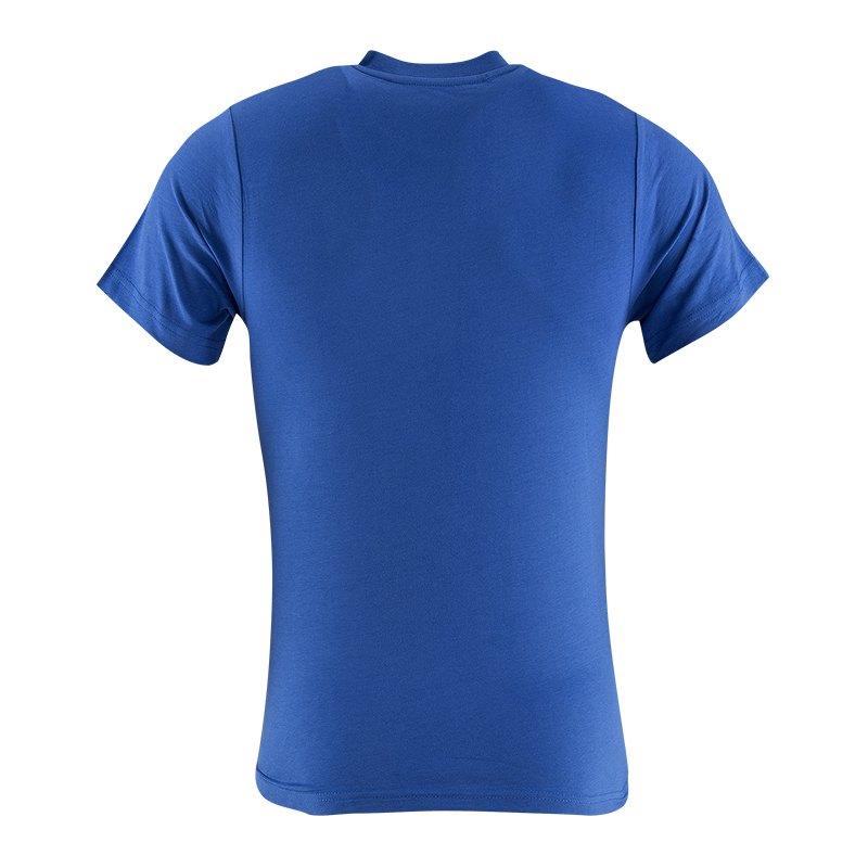fc schalke 04 t shirt k nigsblau blau schwarz shortsleeve replica fanshop kurzarm. Black Bedroom Furniture Sets. Home Design Ideas