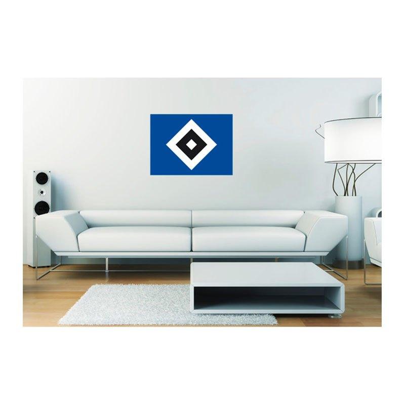 Hamburger SV Wandtattoo HSV Raute Blau Weiss blau