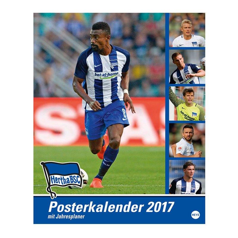 Hertha BSC Posterkalender 2017 Blau Weiss - Blau