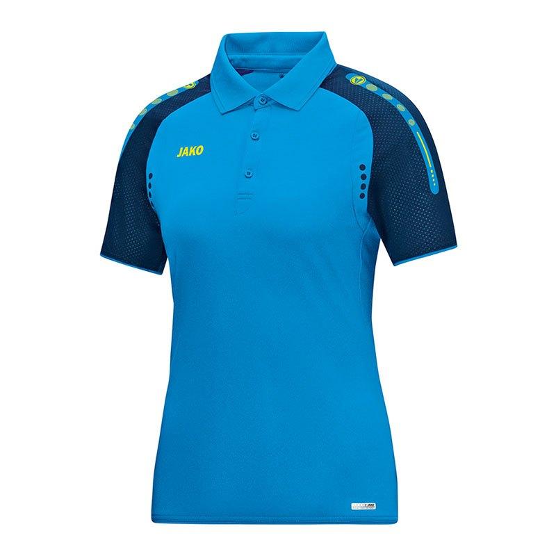 Jako Champ Poloshirt Damen Blau Gelb F89 - blau