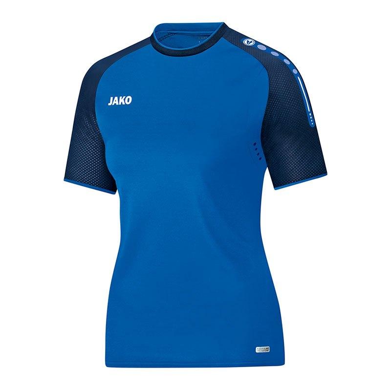 Jako Champ T-Shirt Damen Blau F49 - blau