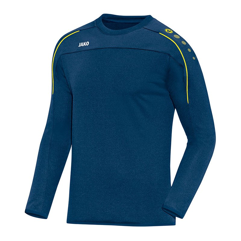 Jako Classico Sweatshirt Blau Gelb F42 - blau