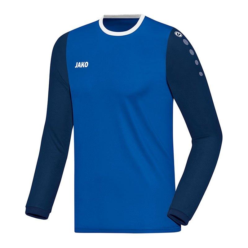Jako Leeds Trikot langarm Blau F04 - blau