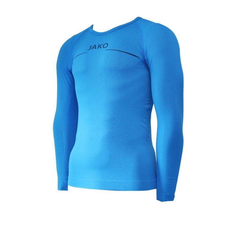 Jako Longsleeve Comfort Blau F89 - blau