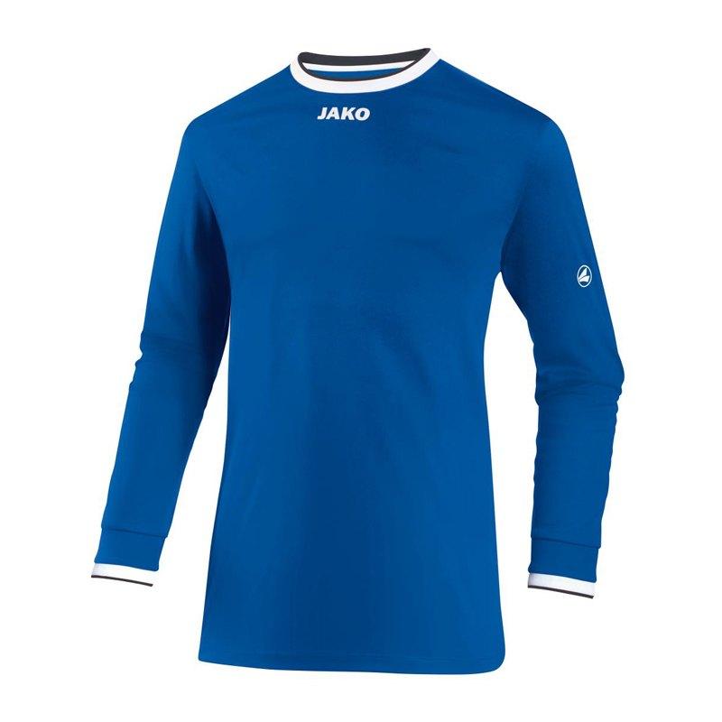Jako United Trikot langarm Blau Weiss F04 - blau