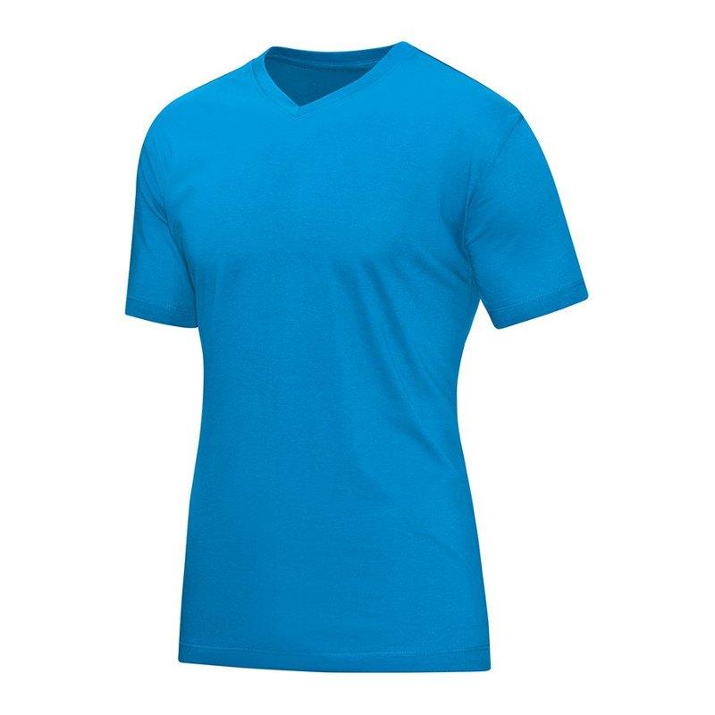 Jako V-Neck T-Shirt Blau F89 - blau