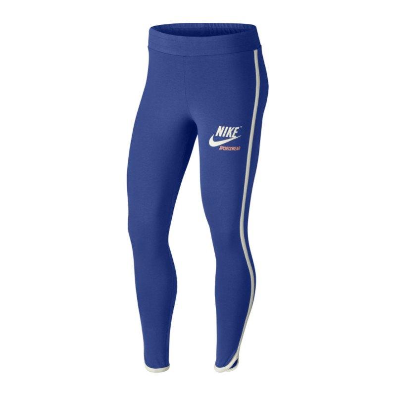 Nike Archive Leggings Tight Damen Blau Weiss F480 - blau