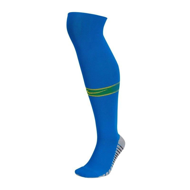 Nike Brasilien Stutzen Away WM 2018 Blau F453 - blau