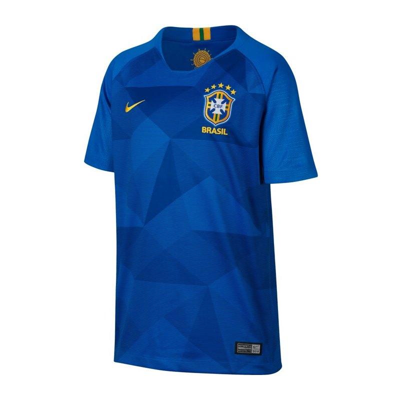 Nike Brasilien Trikot Away Kids WM 2018 Blau F453 - blau