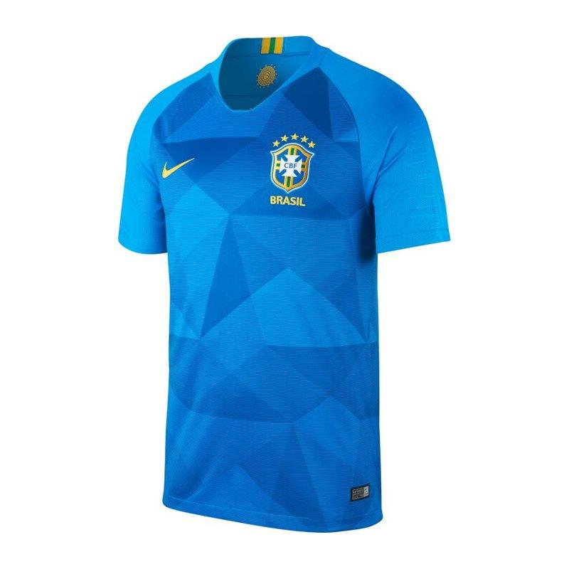 Nike Brasilien Trikot Away WM 2018 Blau F453 - blau