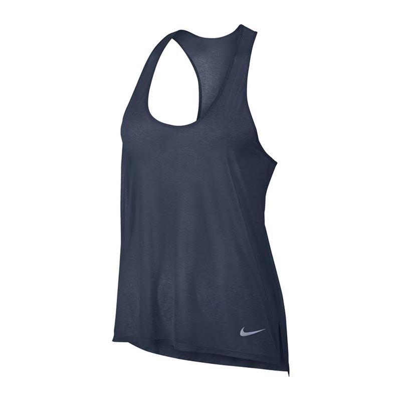 Nike Breathe Tank Top Running Damen Blau F471 - blau