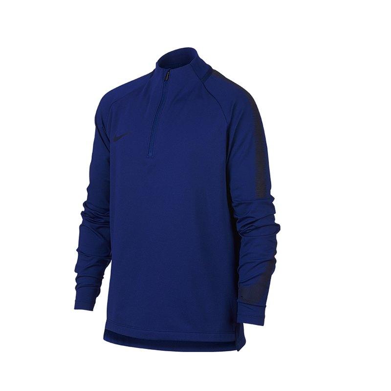Nike Dry Squad Drill Top langarm Kids Blau F457 - blau