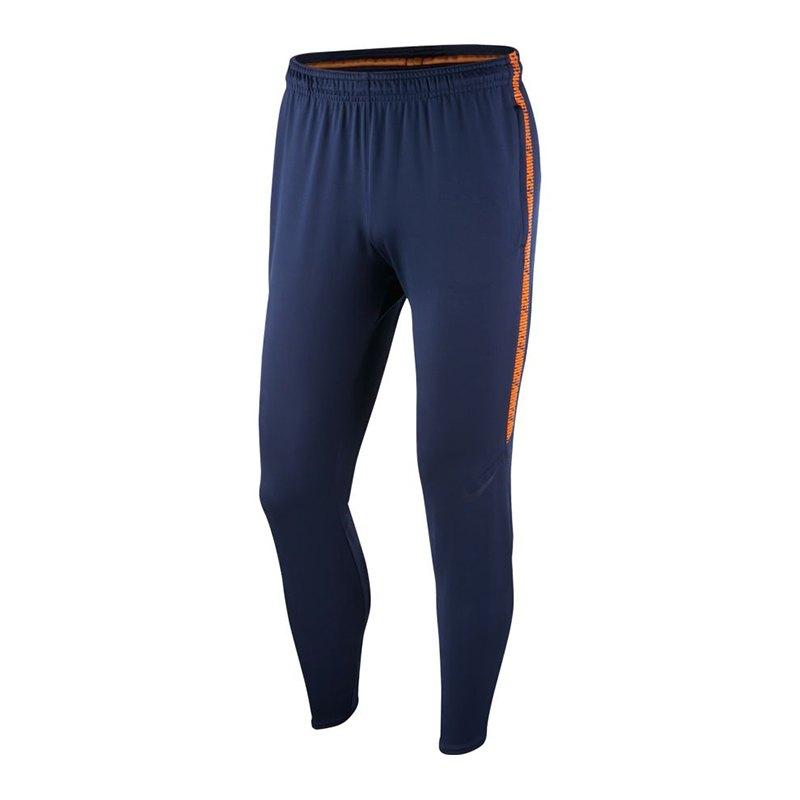 Nike Dry Squad Pant Hose lang Blau F452 - blau