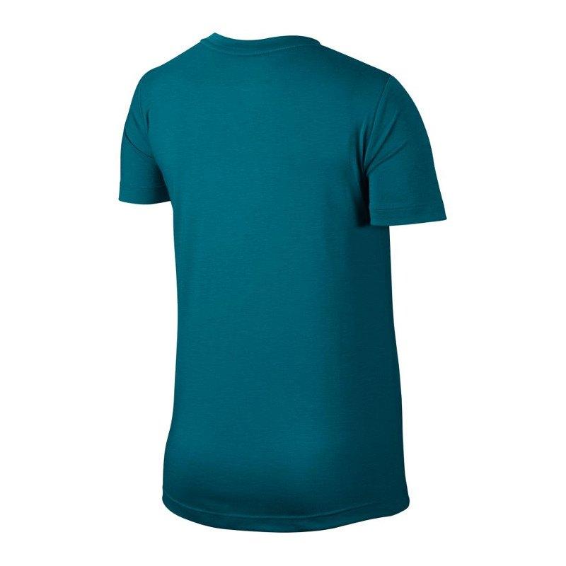nike essential tee t shirt damen blau f467 damenkleidung hemd shirt. Black Bedroom Furniture Sets. Home Design Ideas