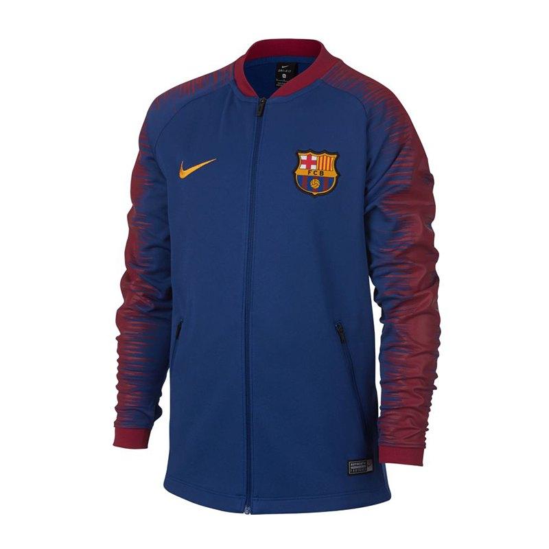 nike fc barcelona anthem jacket kids blau f456 soccerequipment zubeh r fanaustattung. Black Bedroom Furniture Sets. Home Design Ideas