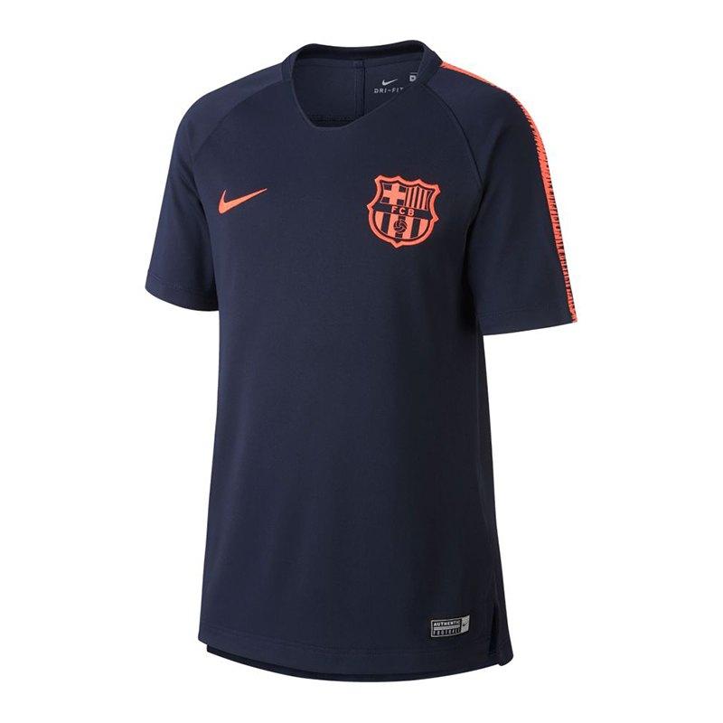 nike fc barcelona breathe squad t shirt kids f452 training ausstattung merchandise. Black Bedroom Furniture Sets. Home Design Ideas