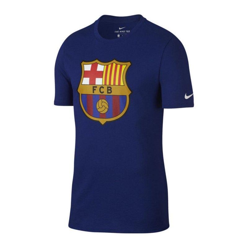nike fc barcelona crest tee t shirt blau f455 soccerequipment zubeh r fanaustattung. Black Bedroom Furniture Sets. Home Design Ideas