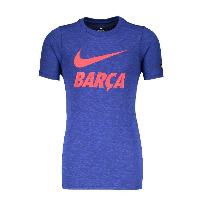 Nike FC Barcelona Slub Dry Tee T-Shirt Kids F455 - blau