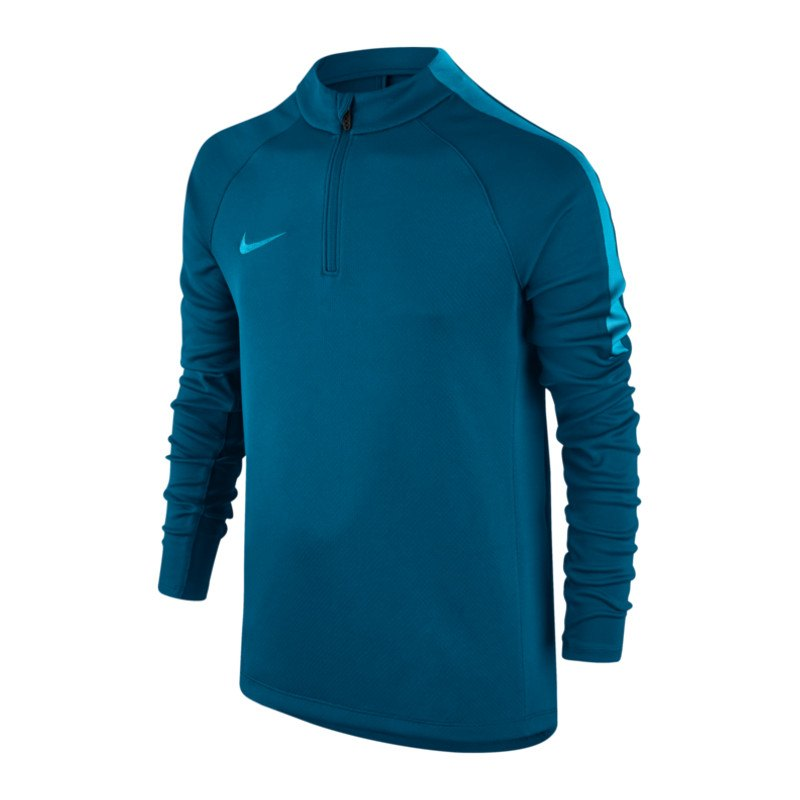 Nike Football Drill 1/4 Zip Langarmshirt Kids F457 - blau