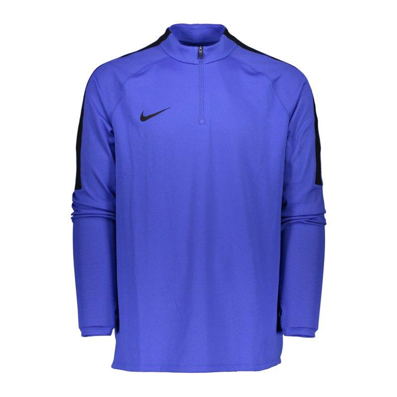 Nike Football Drill Top 1/4 Zip Langarmshirt F453 - blau