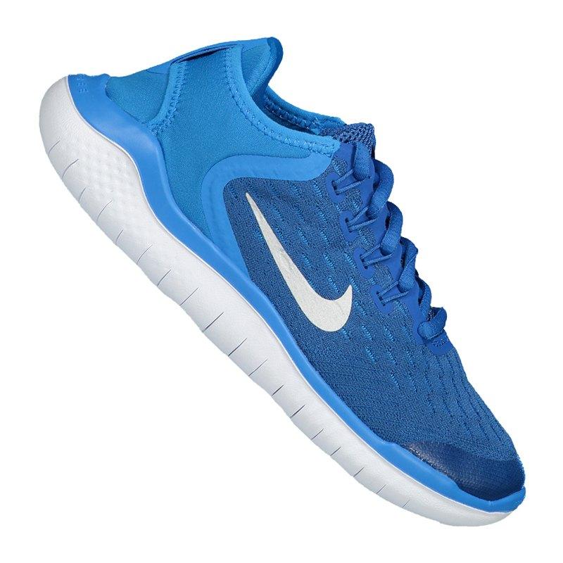 Nike Free RN 2018 Running Kids Blau Weiss F401 - blau