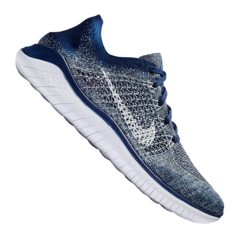 Nike Free RN Flyknit 2018 Running Blau F402 - blau