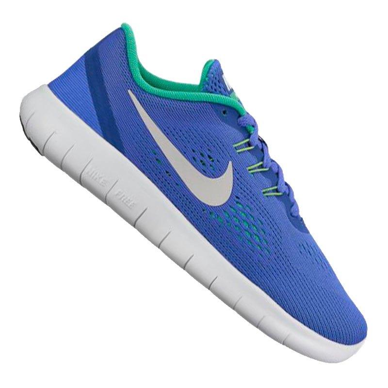 Nike Free Run Kids Blau Grau F404 - blau