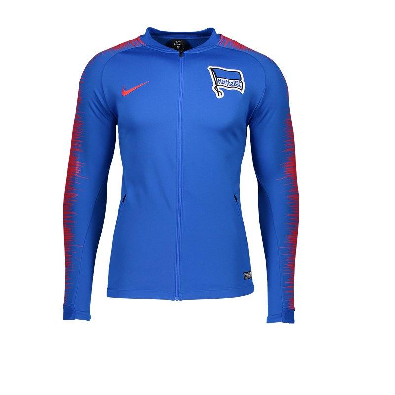 nike hertha bsc berlin anthem jacket blau f439 fanbekleidung fantum ausr stung 10104474. Black Bedroom Furniture Sets. Home Design Ideas
