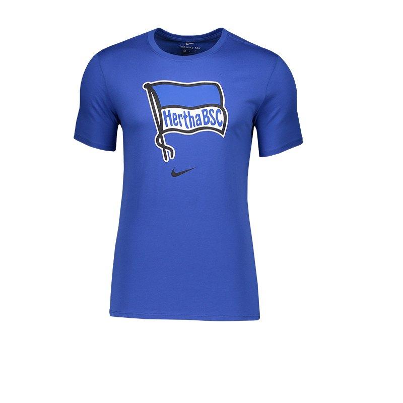 Nike Hertha BSC Berlin Crest T-Shirt Blau F497 - blau