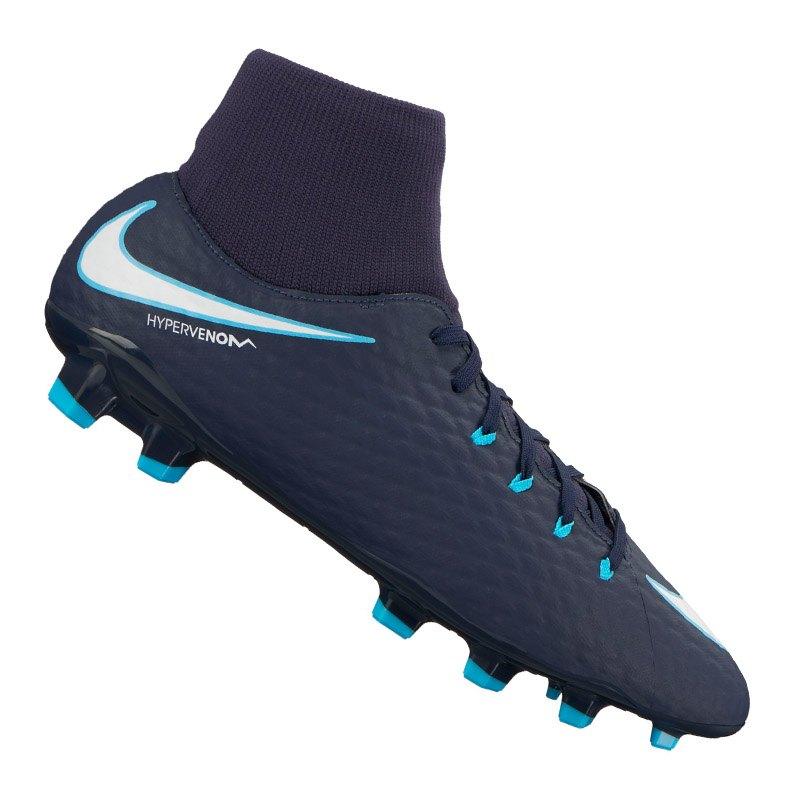 Nike Hypervenom Phelon III DF FG Blau F414 - blau