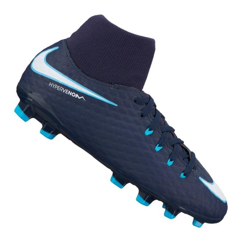 Nike Jr Hypervenom Phelon III DF FG Kids F414 - blau
