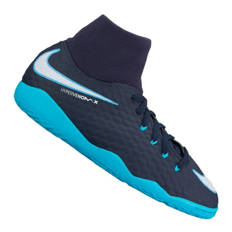 Nike Jr Hypervenom Phelon III DF IC Kids Blau F414 - blau