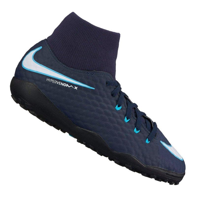 Nike Jr Hypervenom Phelon III DF TF Kids Blau F414 - blau