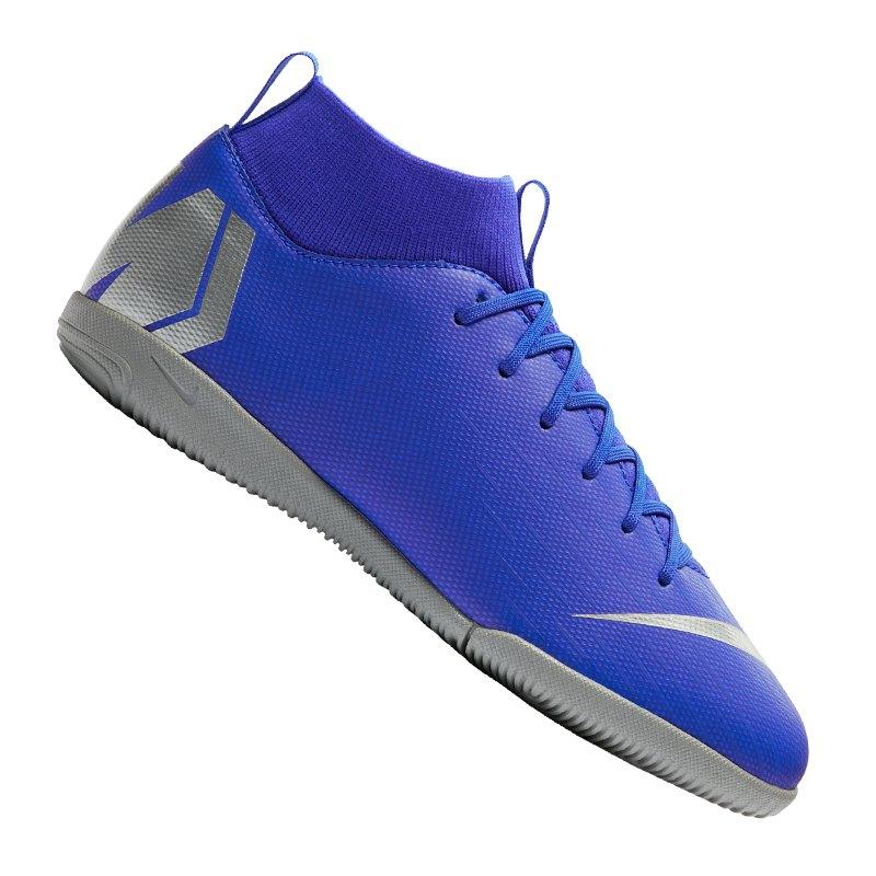 Nike Jr Mercurial SuperflyX VI Academy IC GS Kids F400 - blau