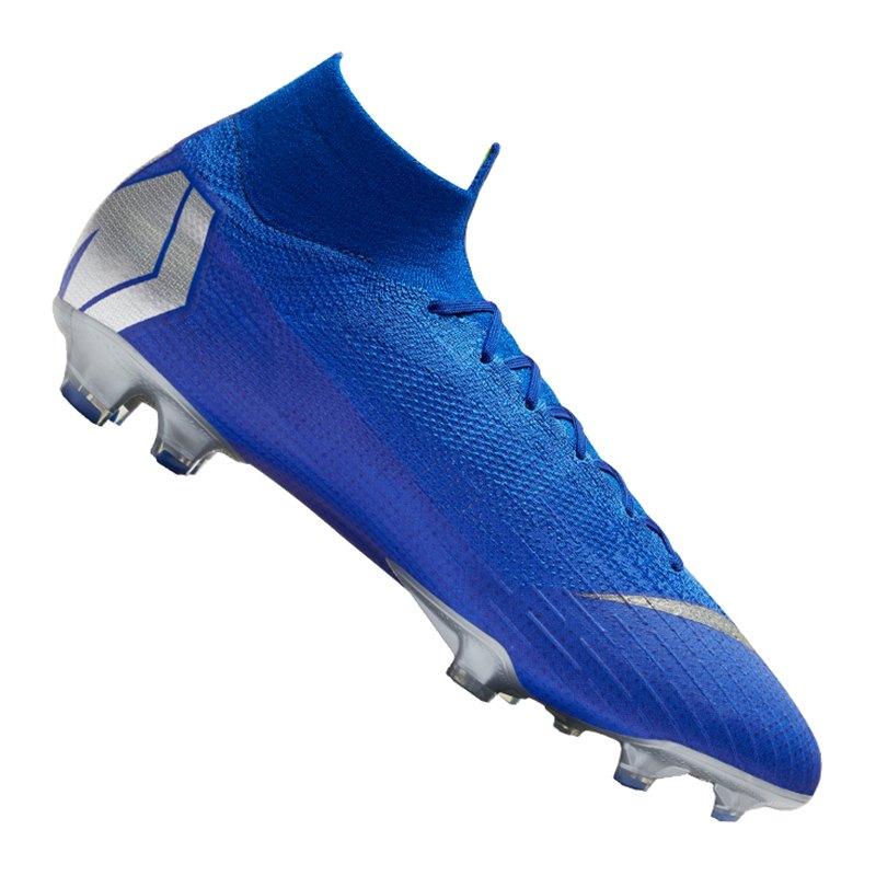 Nike Mercurial Superfly VI Elite FG Blau F400 - blau