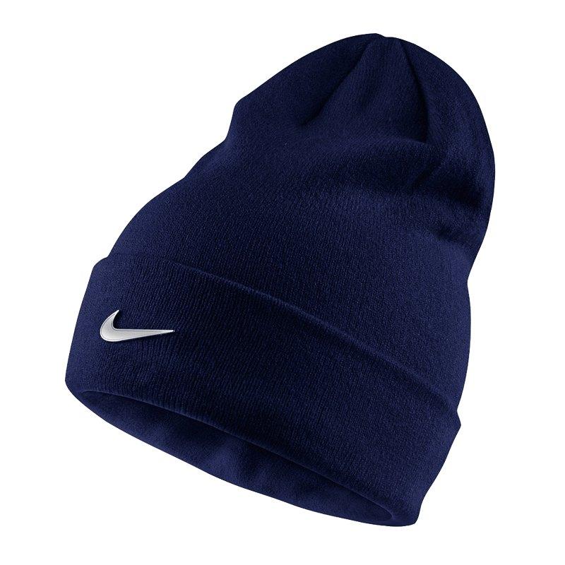 Nike Metal Swoosh Beanie Mütze Kids Blau F451 - blau