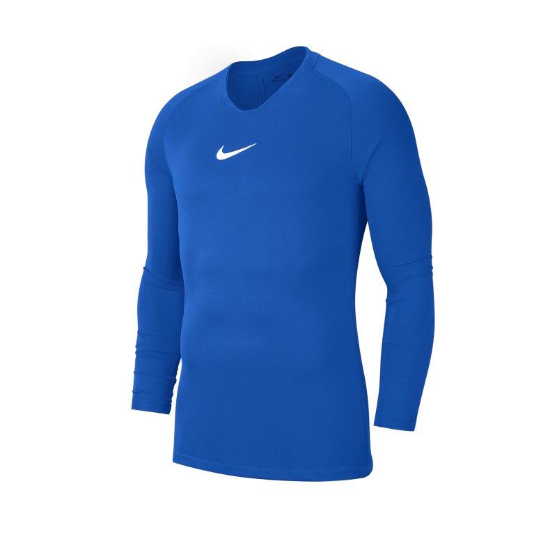 Nike Park First Layer Top langarm Blau F463 - blau