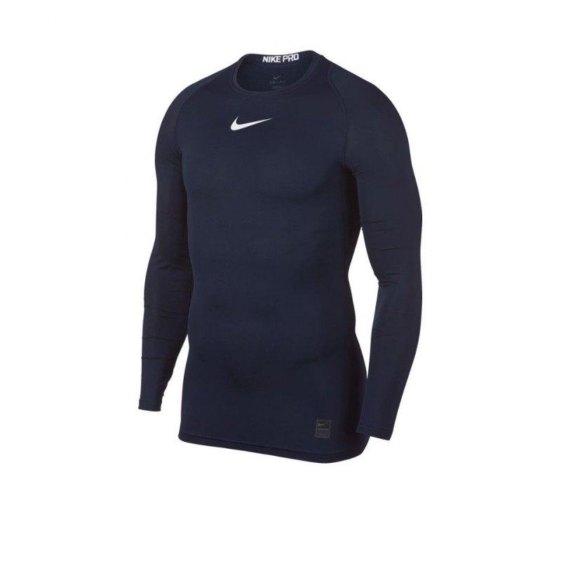 Nike Pro Compression LS Shirt Blau F451 - blau