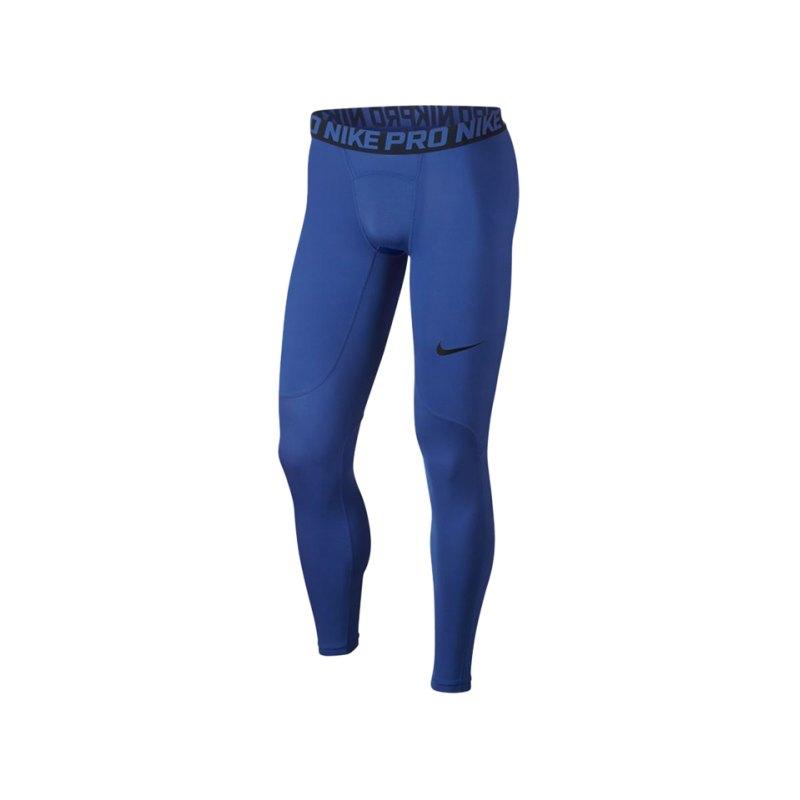Nike Pro Tight Hose lang Blau F480 - blau
