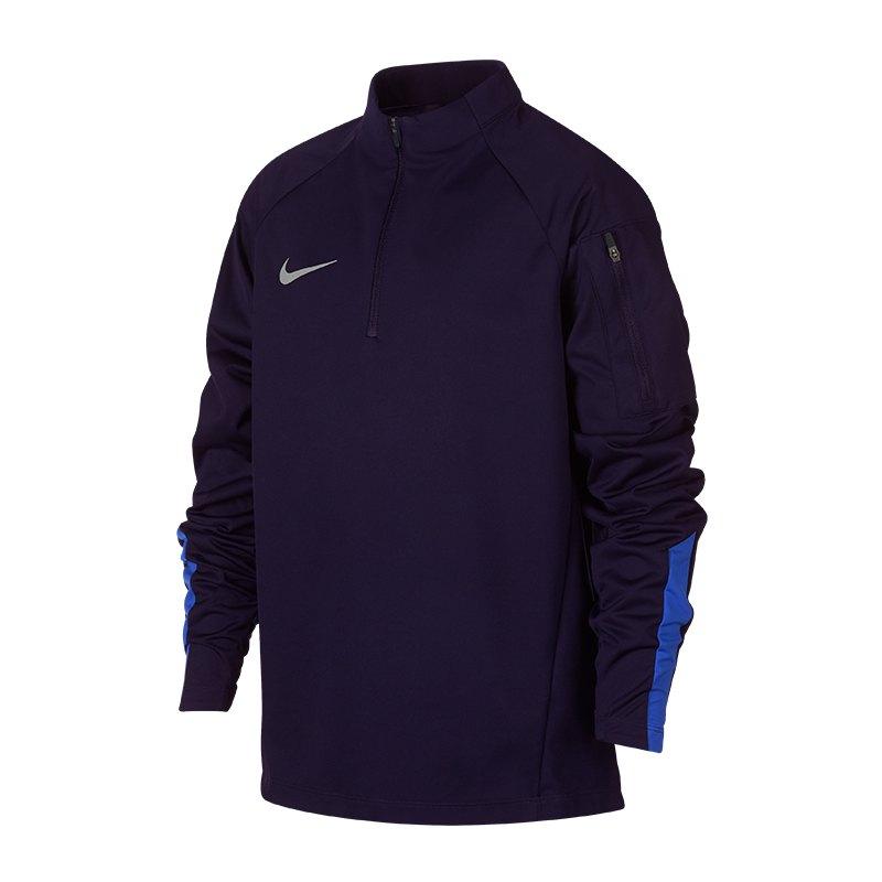Nike Shield Squad Drill Zip Sweatshirt Kids F416 - blau