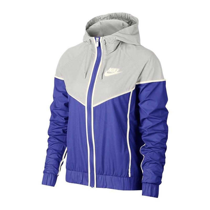 Nike Windrunner Jacket Jacke Damen Blau Grau F518 - blau
