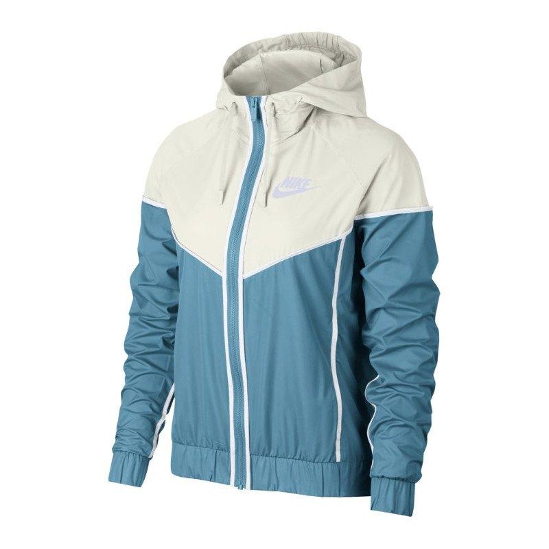 nike windrunner jacket jacke damen blau weiss f440 lifestylejacke jacket lifestylekleidung. Black Bedroom Furniture Sets. Home Design Ideas