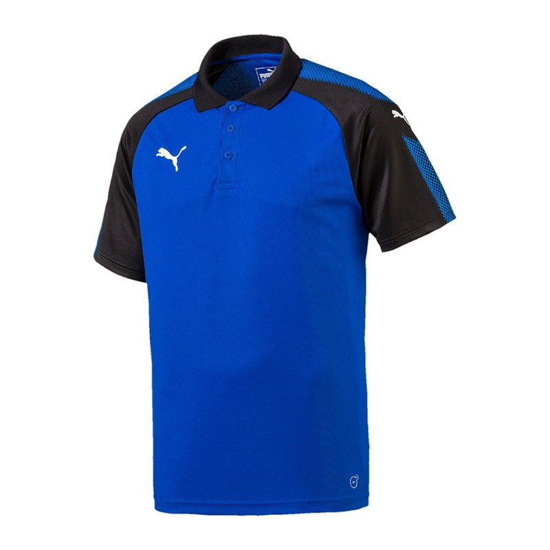 PUMA Ascension Training Polo Blau Schwarz F02 - blau