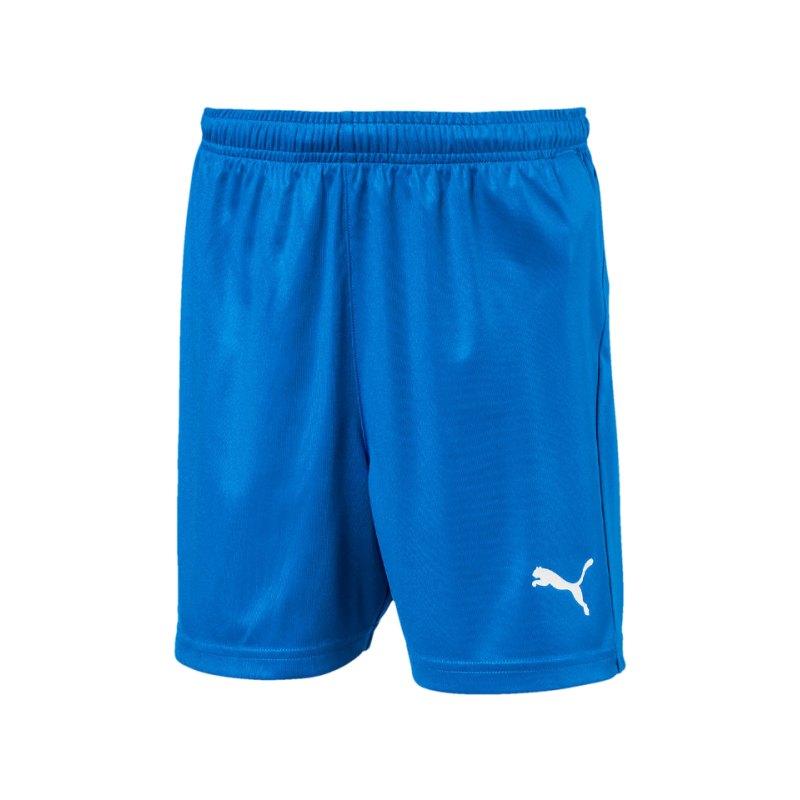 PUMA LIGA Core Short Kids Blau Weiss F02 - blau