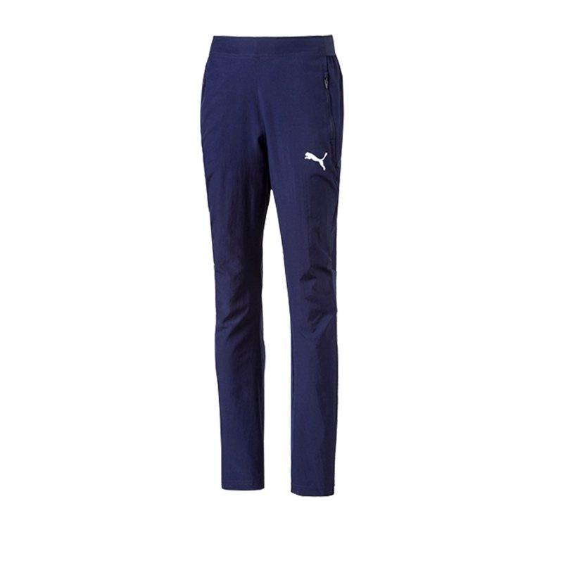 PUMA LIGA Sideline Woven Pant Hose Kids F06 - blau
